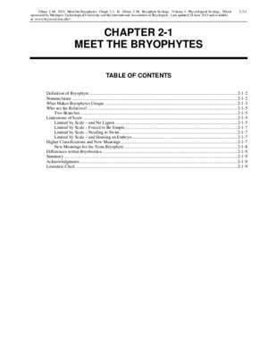 at . CHAPTER 2-1 MEET THE BRYOPHYTES