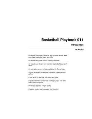 Basketball set plays against man to man : Basketball Playbook Manual