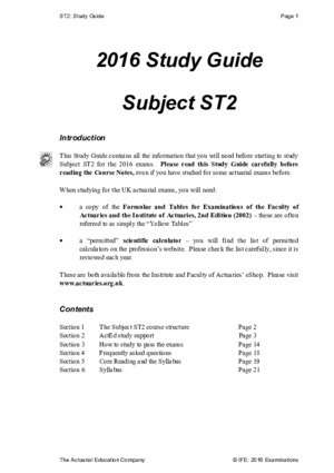 ST2 Study Guide 2016 v1 - ActEd