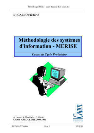 Les diagrammes de la methode de merise : LA METHODE MERISE INTRODUCTION