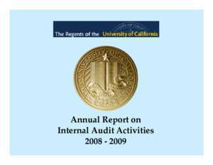 Annual Report on Internal Audit Activities - Office of The