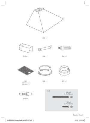 Notice hotte cooke and lewis : CLCH60SS-C_CLCH90SS-C Cooker Hood V ersion 01 Barcode