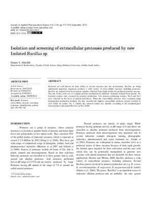 Isolation and screening of extracellular proteases