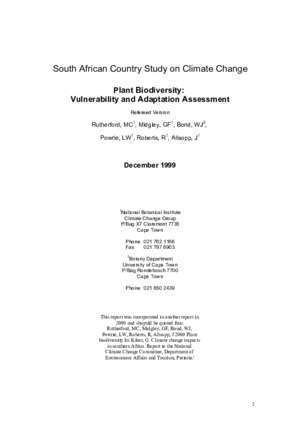 4873 : South African Country Study on Climate Change SANBI