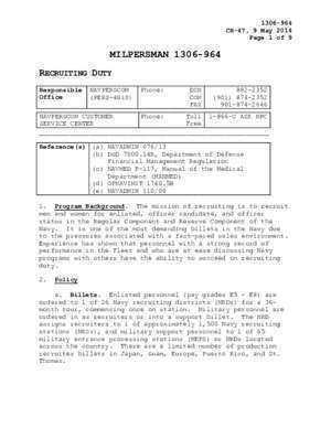 Nrds : MILPERSMAN 1306-964 RECRUITING DUTY US Navy