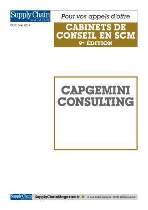 Capegemini : Capgemini consulting Supply Chain Magazine