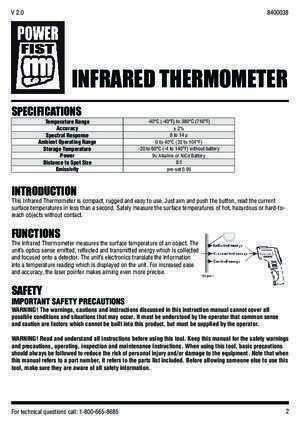 infrared thermometer - Princess Auto
