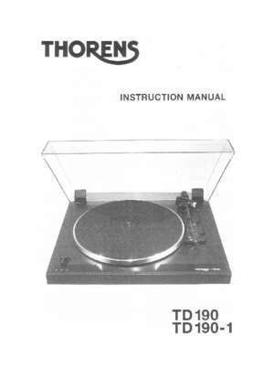 61 page 190 : Contents Page Thorens