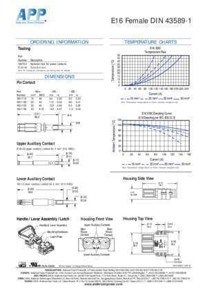 2768 mk e : SPECIFICATIONS Anderson Power Products