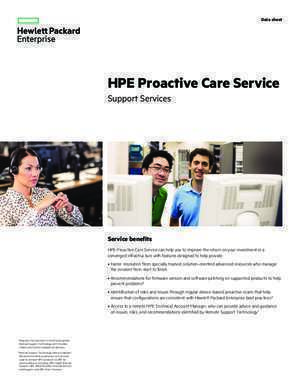 HPE Proactive Care Service