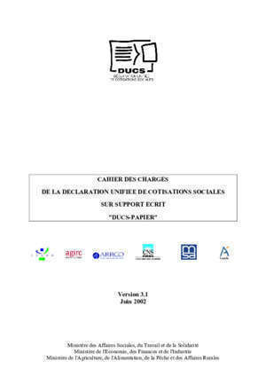 11243 01 urssaf : Cahier des charges DUCS V3 msa fr