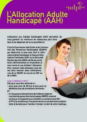 Allocation adulte handicape : L Allocation Adulte Handicapé (AAH) aisne com
