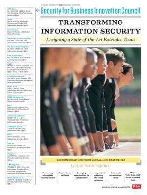 Transforming Information Security: How to Build a State-of