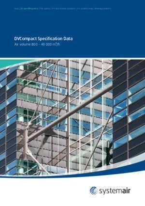 DVCompact Specification Data - Systemair