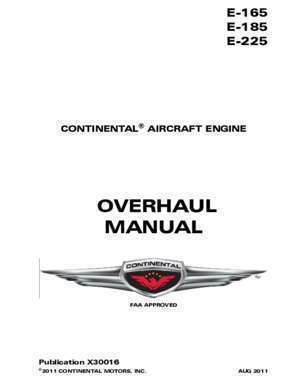 4 p 185 : E-165, E-185 and E-225 Series Engine Overhaul Manual