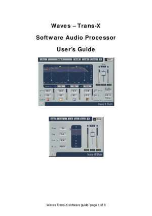 Waves - Trans-X Software Audio Processor User's Guide