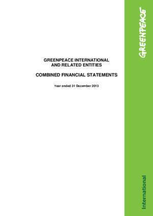 39408 : COMBINED FINANCIAL STATEMENTS Greenpeace