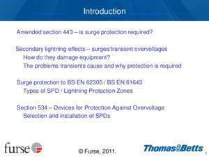 17th edition first amendment Surge protection -