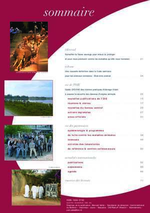 Bulletin OIE 2008 No. 3 - Animaux sauvages