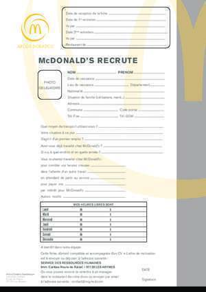 Abymes guadeloupe : McDONALD S RECRUTE