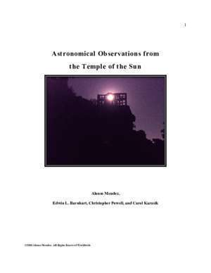Ahlam 2 : Astronomical Observations from the Temple of the Sun