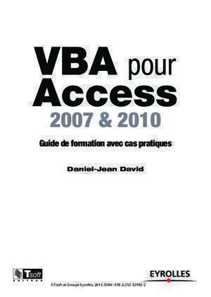 Access vba : VBA pour Access multimedia fnac com