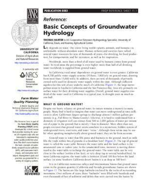 Basic sedimentary and water : Basic Concepts of Groundwater Hydrology