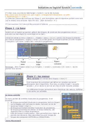2nde exercice math listes des fichiers pdf 2nde exercice math : Initiation scratch 2nde Lyon