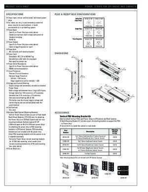 POWER STRIPS FOR CPI RACKS AND CABINET SYSTEMS