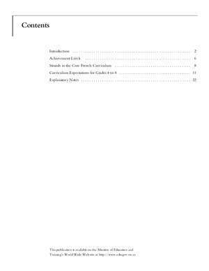 curriculum documents FSL - Ontario Ministry of Education
