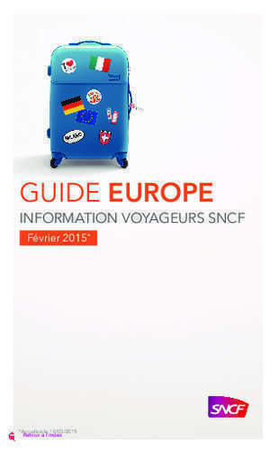 100 paper plan : Guide europe Sncf