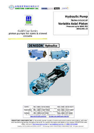 73 p24 : Series GOLDCUP Variable Axial Piston kstci com tw