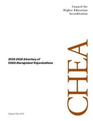 2015-2016 Directory of CHEA-Recognized Organizations