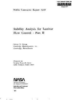 Stability Analysis for Laminar Flow Control - Part II