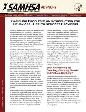 Orks : Gambling Problems An Introduction For Behavioral Health