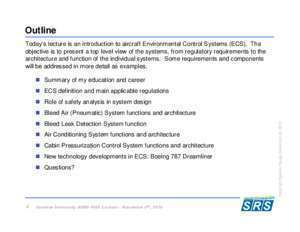 Aircraft structure and systems : Aircraft Environmental Control Systems srs aero