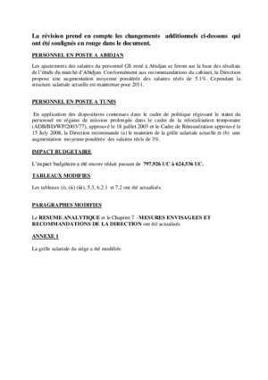 CONSEIL D'ADMINISTRATION VERSION REVISEE*