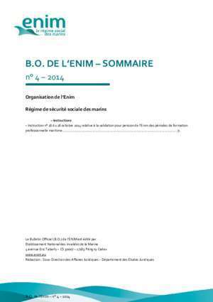 Bulletin de liaison inter regime : BULLETIN OFFICIEL DE L ENIM