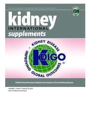 KDIGO Clinical Practice Guideline for Anemia in Chronic