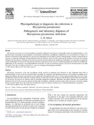 As 47 d : Pathogenesis and laboratory diagnosis of