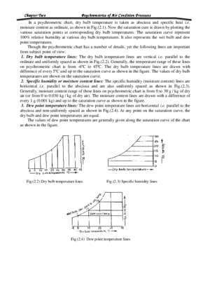 Air condition : Chapter Two Psychrometrics of Air Condition Processes