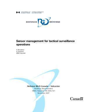 Sensor management for tactical surveillance operations - Defence ...