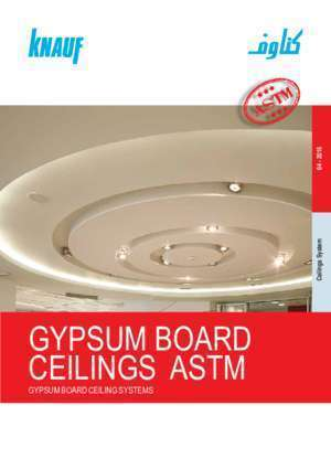 Astm e 119 : GYPSUM BOARD CEILINGS ASTM Knauf