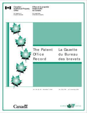 La Gazette du Bureau des brevets The Patent Office Record