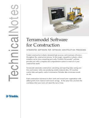 389130 : Notes Terramodel Software Technical for