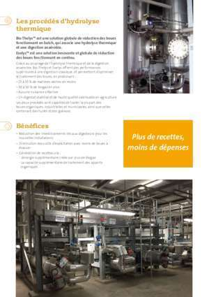 Digestion brevet : Brochure Hydrolyse Thermique Technologies Veolia Water