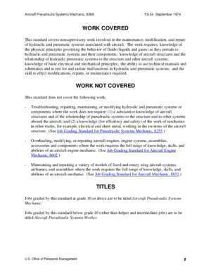 8268 : Federal Wage System Job Grading Standard for Aircraft