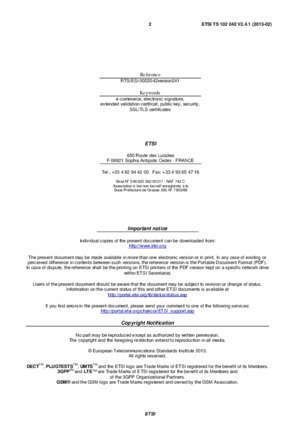 319 02 2013 : ); Policy requirements for certification authorities