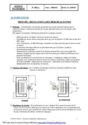 003-Alternateur, Regulation, Depannage.pdf