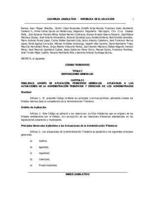 ASAMBLEA LEGISLATIVA - REPUBLICA DE EL SALVADOR